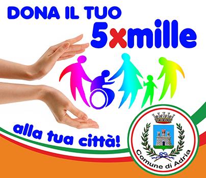 Banner 5xmille Comune di Adria 2020